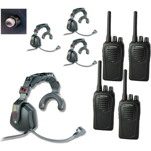 Eartec 4-User SC-1000 2-Way Radio with Ultra Single USSC4000SH