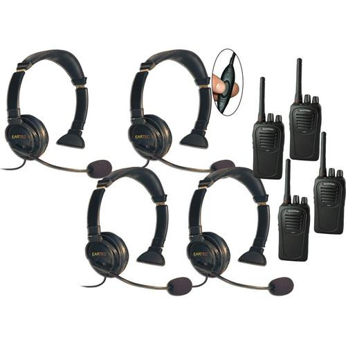 Eartec 4-User SC-1000 Two-Way Radio System with Lazer LZSC4000IL