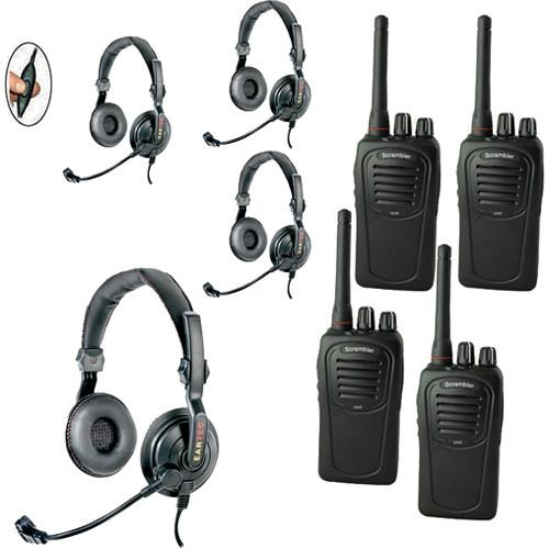 Eartec 4-User SC-1000 Two-Way Radio with Slimline SDSC4000IL