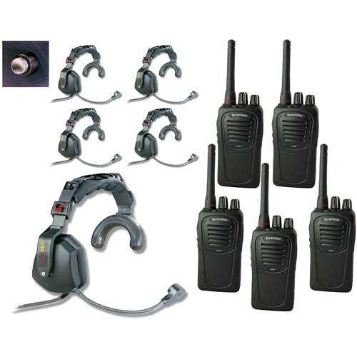 Eartec 5-User SC-1000 2-Way Radio with Ultra Single USSC5000SH