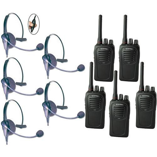 Eartec SC-1000 5-User Two-Way Radio System ECSC5000IL