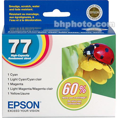 Epson Epson 77 High Capacity Claria Ink: Full Color T077920
