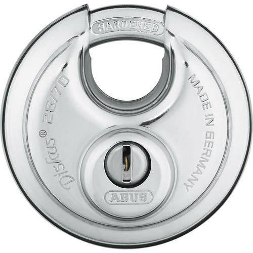 Hard Steal  Diskus 26/70 Disk Style Lock ABUS