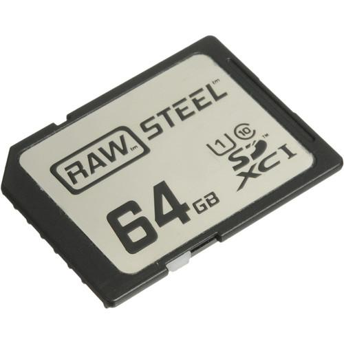 Hoodman 64GB SDXC Memory Card RAW STEEL Class 10 RAWSDXC64GBU1