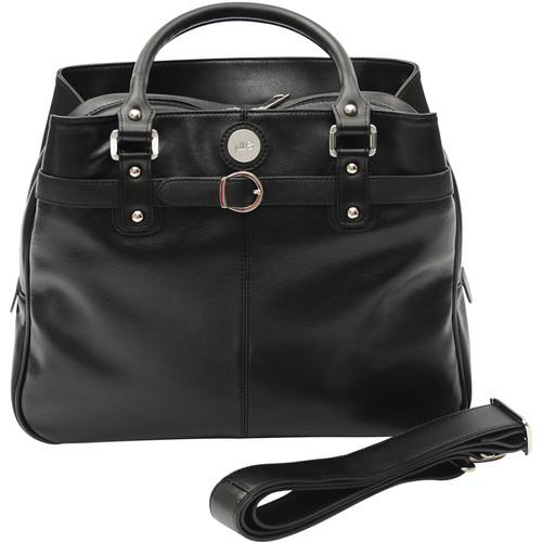 Jill-E Designs Laptop Career Bag - Black Leather 373595