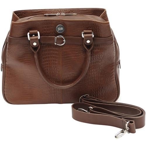 Jill-E Designs Laptop Career Bag - Brown Croc Leather 373601
