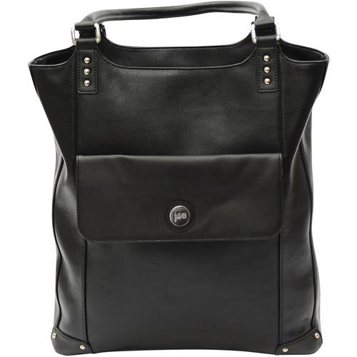 Jill-E Designs Laptop Tote - Black Leather 373571