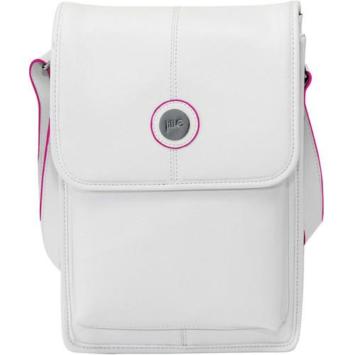 Jill-E Designs Metro Tablet Bag (White/Pink Trim) 384355