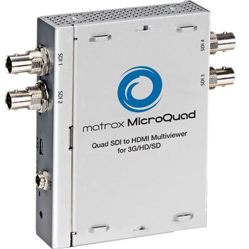 Matrox MicroQuad SDI to HDMI Multiviewer for 3G / HD / SD MQUAD