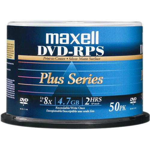 Maxell DVD-R Inkjet Printable Matte Silver Recordable 635080