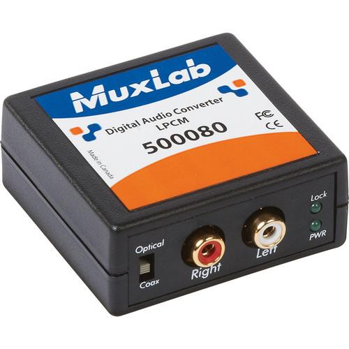 MuxLab 500080 LPCM Digital to Analog Converter 500080