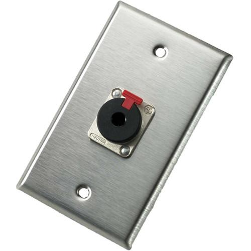 Neutrik 103P Single Gang Wallplate with Female Locking Jack 103P