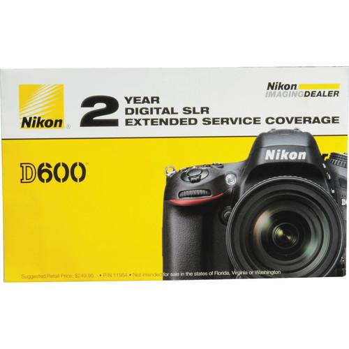 Nikon 2-Year Extended Service Coverage for Nikon D600 and 11954