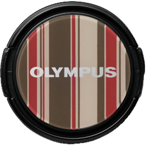 Olympus LC-37PR Brown Stripe Decorative Lens Cap V6540035W000