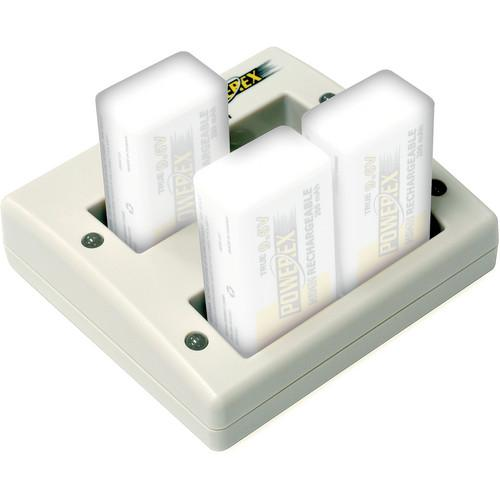 Powerex MH-C490F Stealth Two-Hour Compact 4-Bank 9V MH-C490F-DCW