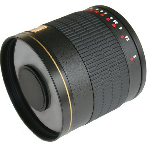 Rokinon 800mm f/8.0 Mirror T-Mount Lens (Black) with Nikon Lens