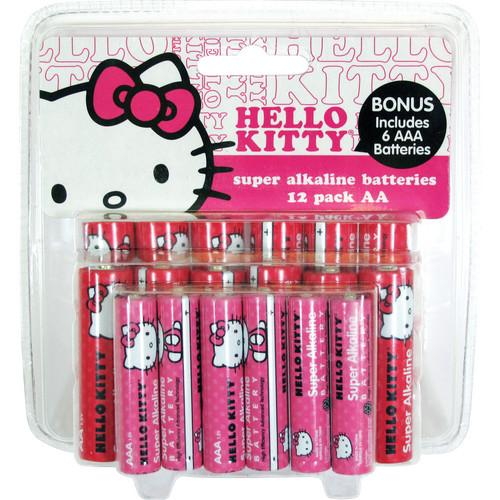 Sakar Hello Kitty Super AA / AAA Alkaline Batteries 12AA-ALK-09