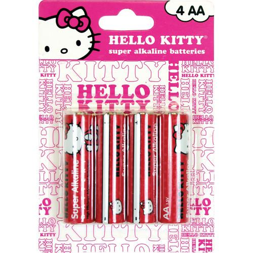 Sakar Hello Kitty Super AA Alkaline Batteries (1.5V) 4AA-ALK-09