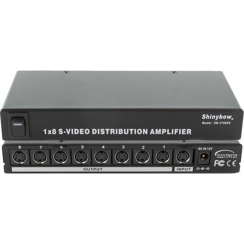 Shinybow SB-3706SV 1 x 8 S-Video Distribution Amplifier