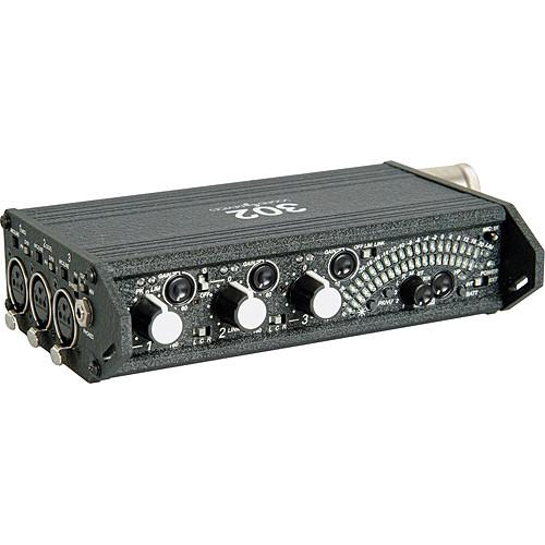 Sound Devices 302 Portable 3-Channel Field Mixer and Porta
