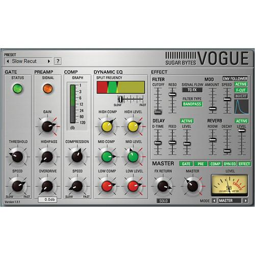 Sugar Bytes Vogue: Virtual Channel Strip Plug-In 11-33040