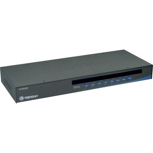 TRENDnet 8-Port USB/PS/2 Rack Mount KVM Switch TK-803R