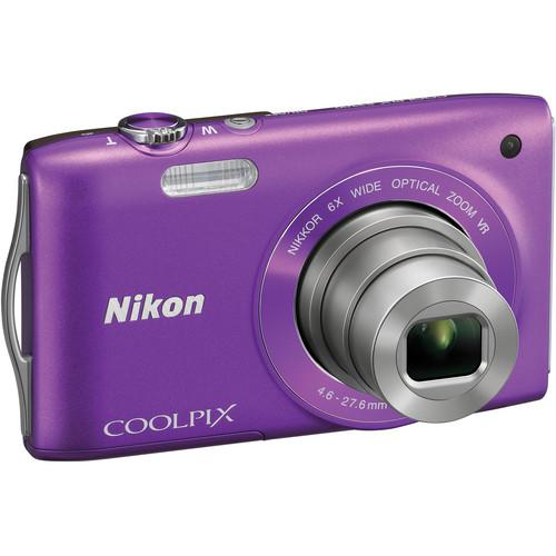 Used Nikon Coolpix S3300 Digital Camera (Purple) 26312B