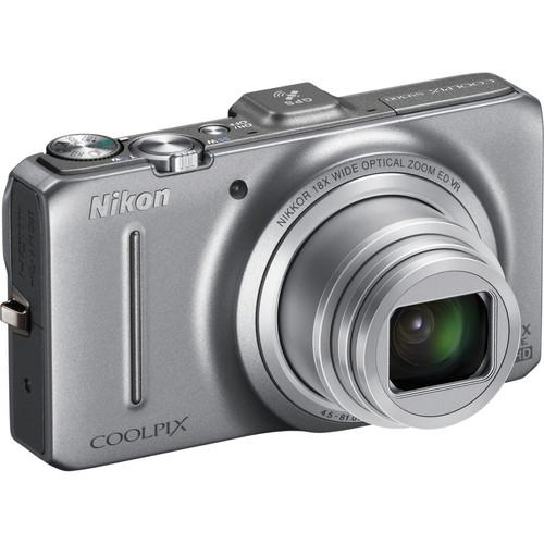 Used Nikon Coolpix S9300 Digital Camera (Silver) 26314B
