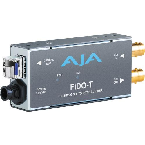 AJA FiDO Single Channel 3G-SDI to LC Fiber Mini Converter FIDO-T