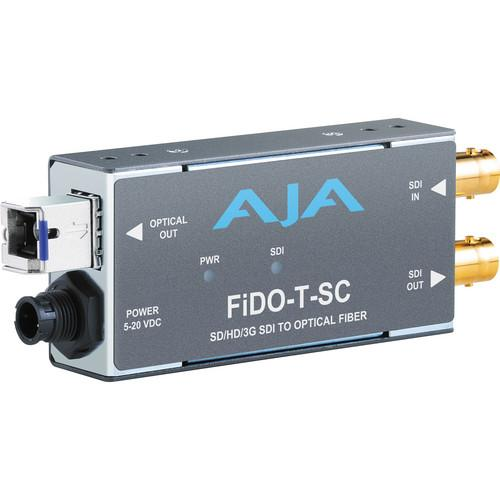 AJA FiDO Single Channel 3G-SDI to SC Fiber Mini FIDO-T-SC