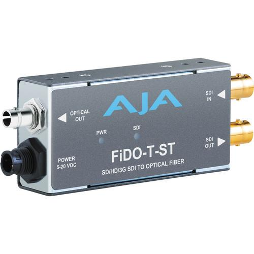 AJA FiDO Single Channel 3G-SDI to ST Fiber Mini FIDO-T-ST