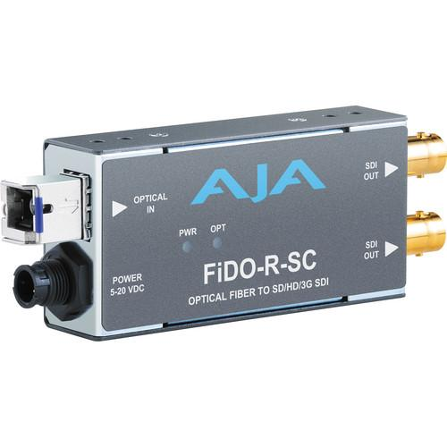 AJA FiDO Single Channel SC Fiber to 3G-SDI Mini FIDO-R-SC