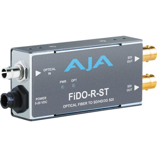 AJA FiDO Single Channel ST Fiber to 3G-SDI Mini FIDO-R-ST