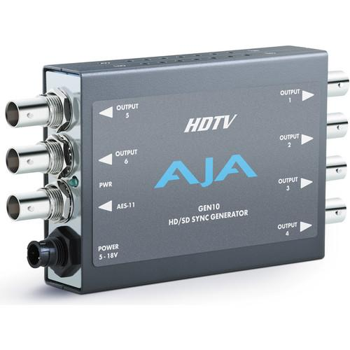 AJA GEN10 HD/SD/AES Sync Generator with Universal Power GEN10