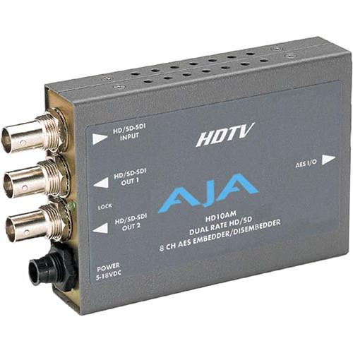 AJA HD/SD 8 Channel AES Embedder/Disembedder HD10AM