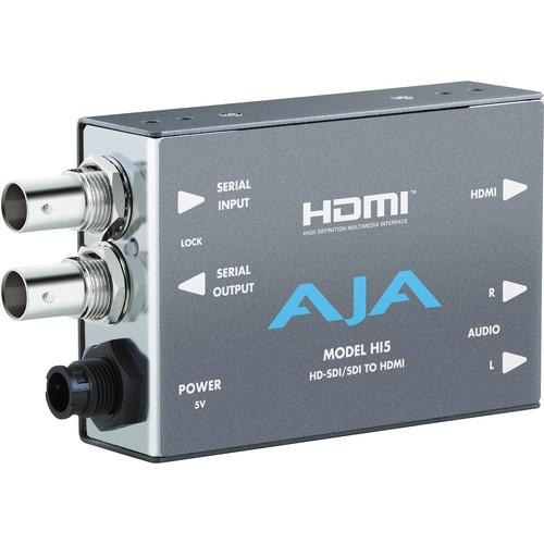 AJA HD/SD-SDI to HDMI Video and Audio Converter with DWP HI5