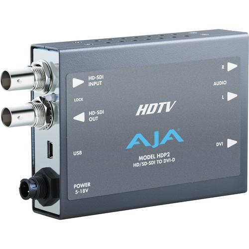 AJA HDP2 HD/SD-SDI to DVI-D Video and Audio Converter HDP2