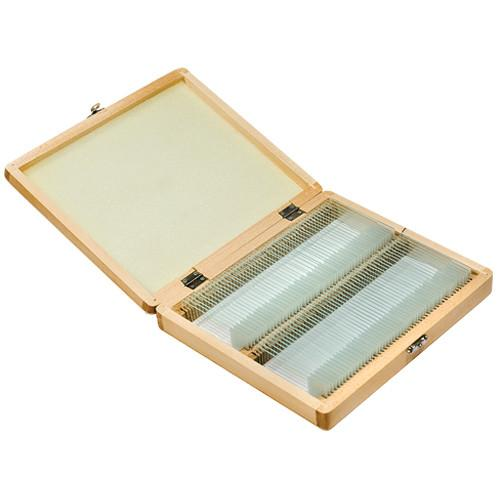 Barska 100 Prepared Microscope Slides with Wooden Case AF11944