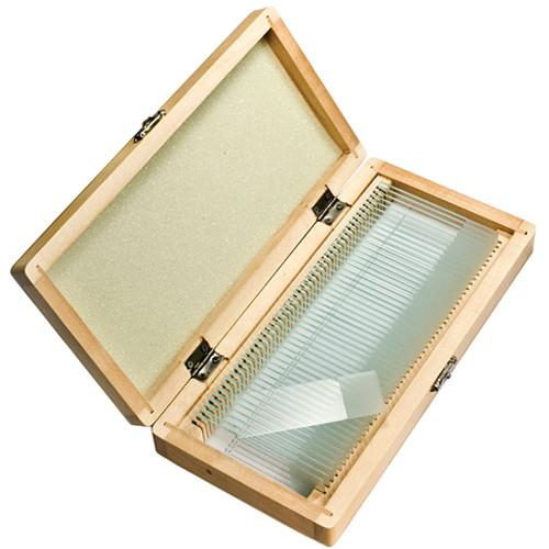 Barska 50 Prepared Microscope Slides with Wooden Case AF11942