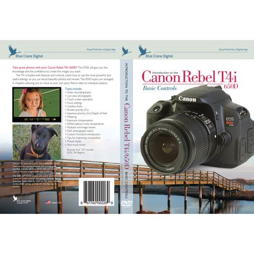 Blue Crane Digital DVD: Introduction to the Canon Rebel BC146