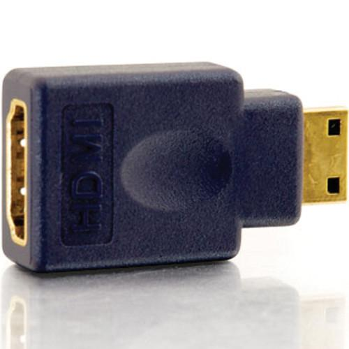 C2G Velocity HDMI Female to HDMI Mini Male Adapter (Blue) 40435