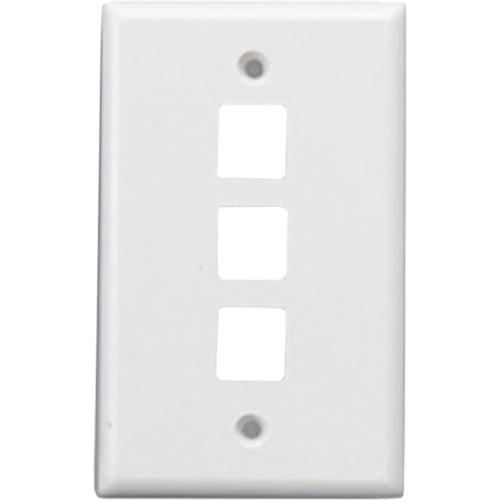 Comprehensive WP-FP3WHT Keystone 3 Port Faceplate WP-FP3WHT
