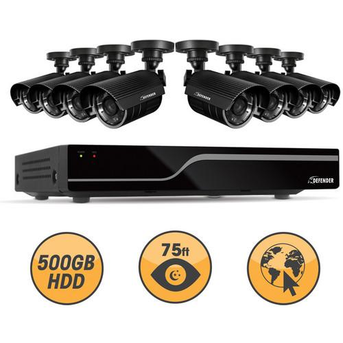 Defender 21048 16-Channel DVR with 8 Hi-Res Outdoor 21048