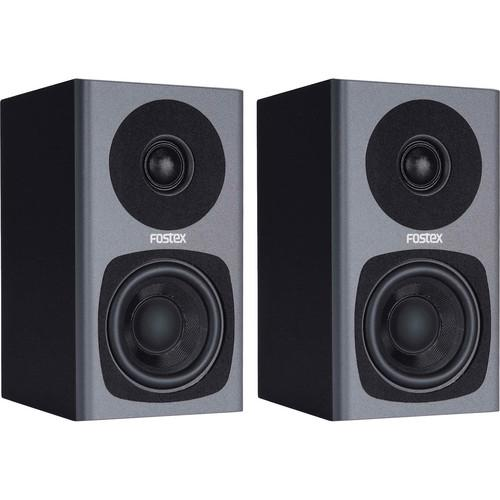 Fostex PM0.3 2-Way Powered Monitor Speaker System (Gray) PM0.3G