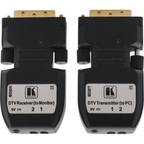 Kramer 602R/T Detachable DVI Optical Transmitter & 602R/T