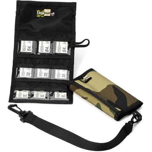 LensCoat Memory Card Wallet SD9 (Forest Green Camo) MWSD9FG