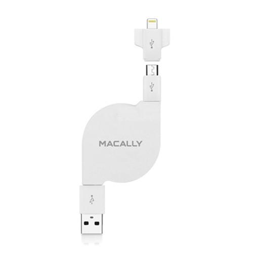 Macally Retractable Sync and Charge Cable MDUALSYNCL