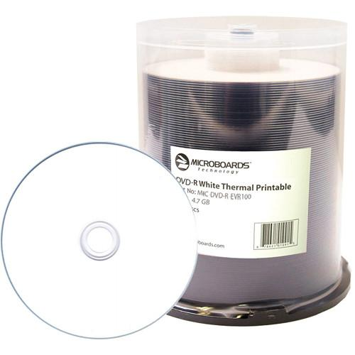 Microboards White Thermal-Printable DVD-R MIC-DVD-R-EVR100