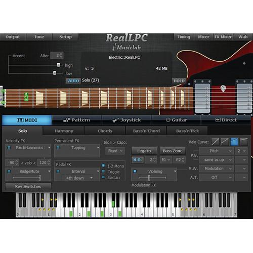 MusicLab RealLPC Virtual Guitar Instrument (Download) 12-41276