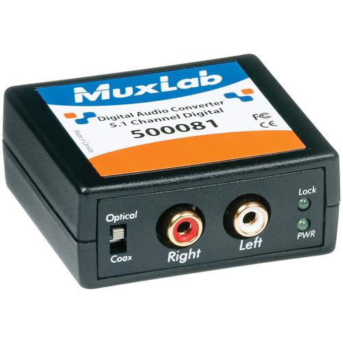 MuxLab 5.1-Channel Digital Audio Converter 500081